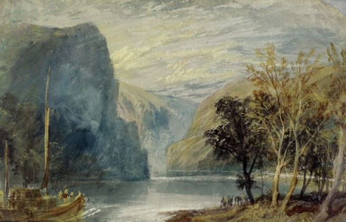 "Joseph Mallord William Turner, ""Der Loreley-Felsen"", 1817, © Leeds Museums and Galleries"